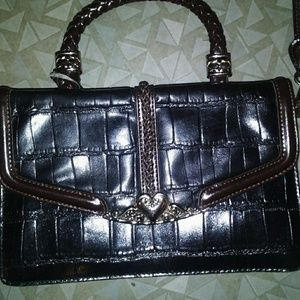 Brown & Black Purse with Heart